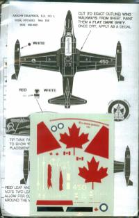 "1/72 CT-133 SILVER STAR. 414 ""BLACK NIGHT""Squadron, Markings the Silver Star's Years of Service with the RCAF and CAF"