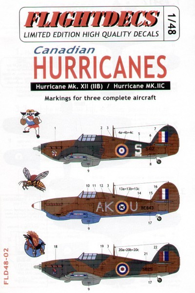 Canadian Hurricanes - Decal and Resin set