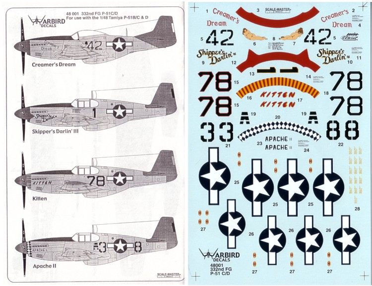 WAR BIRD DECALS