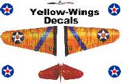 YELLOW WINGS DECALS-Aircraft decals (military)