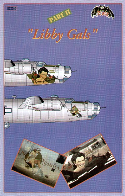 Libby Gals Part 2. (2) B-24M 44-50853 64BS/43BG 'Mabel's Labels/Gimme a great big smile'; 44-41875 528BS//380BG 'Net Results'. Both 5th Air Force